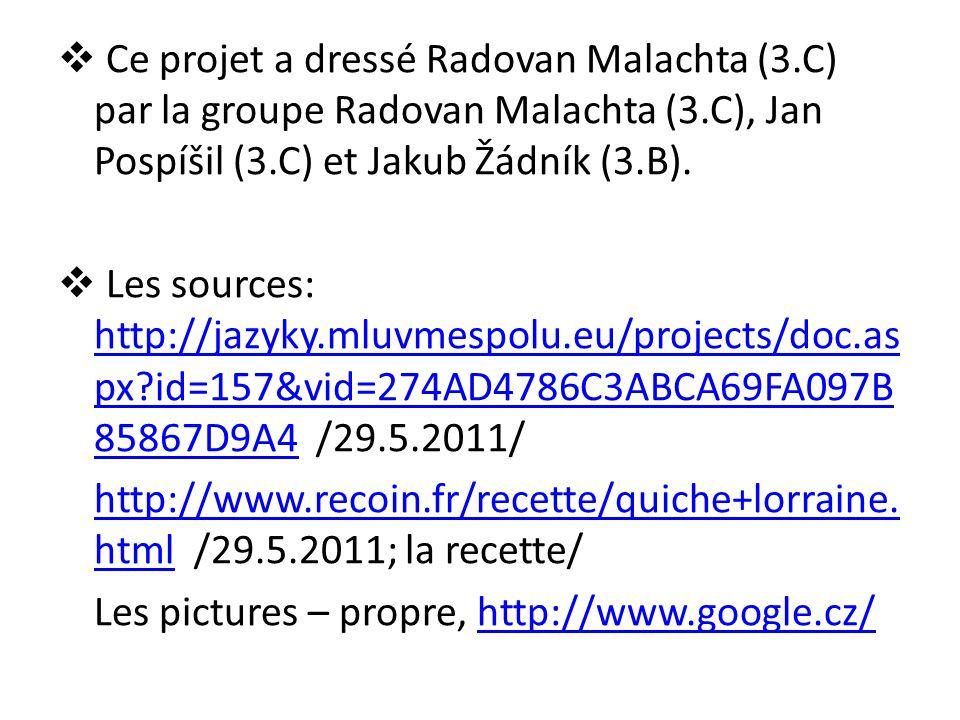  Ce projet a dressé Radovan Malachta (3.C) par la groupe Radovan Malachta (3.C), Jan Pospíšil (3.C) et Jakub Žádník (3.B).