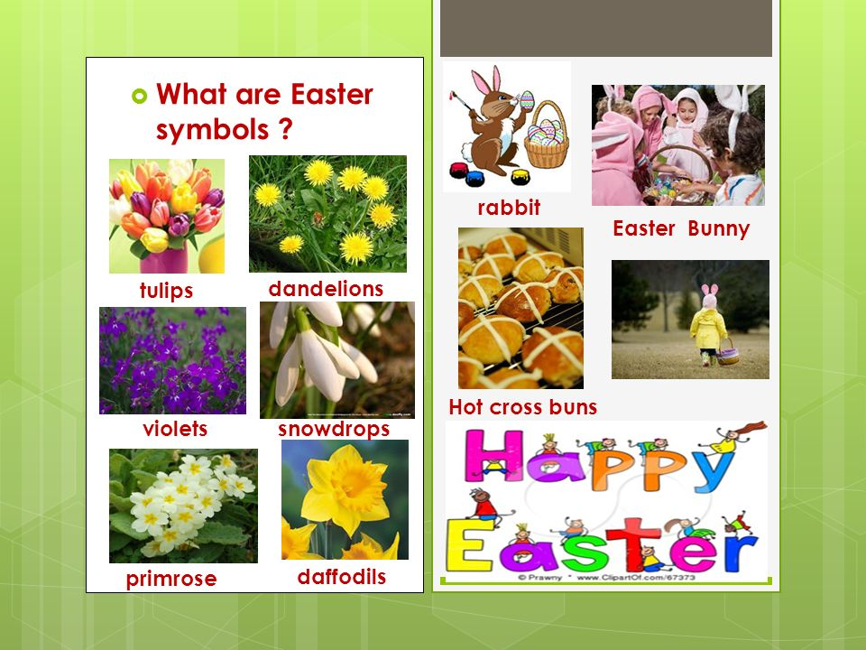  What are Easter symbols .