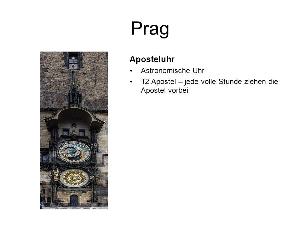 Prag Aposteluhr Astronomische Uhr 12 Apostel – jede volle Stunde ziehen die Apostel vorbei