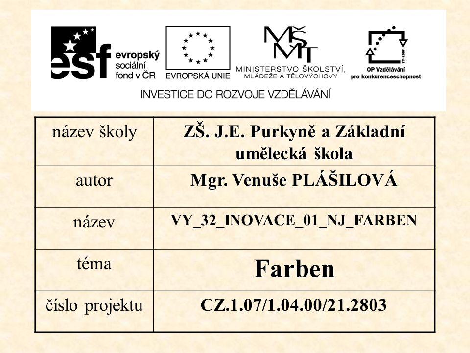 název školy ZŠ. J.E. Purkyně a Základní umělecká škola autor Mgr.
