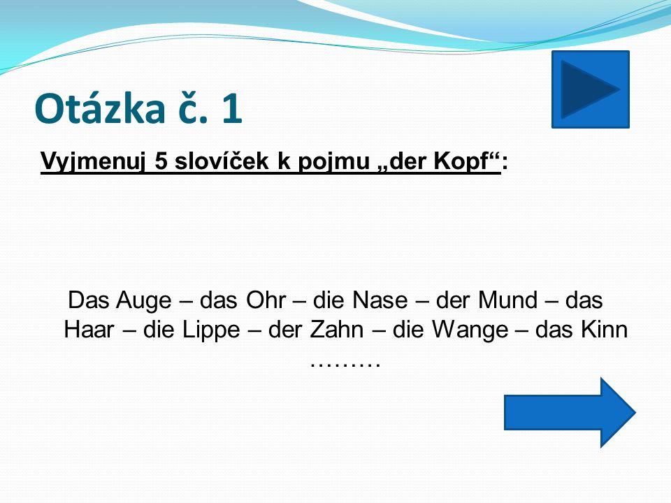 Otázka č.12 Přelož: Gehen Sie diese Straße geradeaus, bis zur Post.