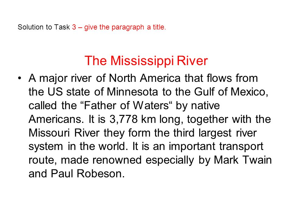 The Mississippi River – New Orleans, Louisiana PRA.