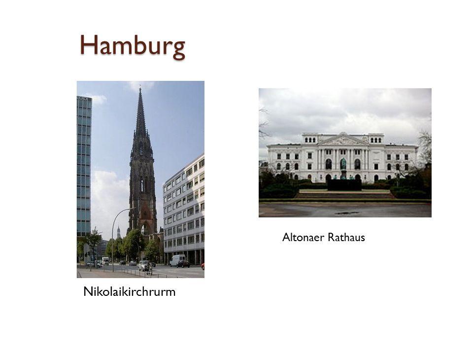 Hamburg Nikolaikirchrurm Altonaer Rathaus