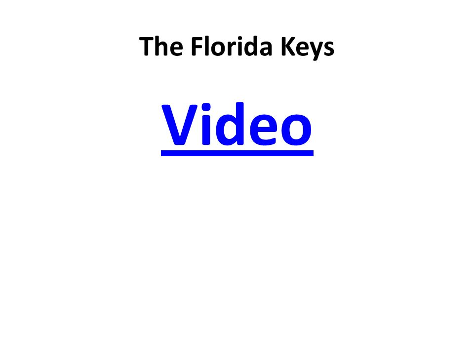 The Florida Keys Video