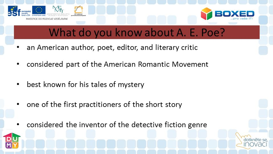What do you know about A.E. Poe´s life.