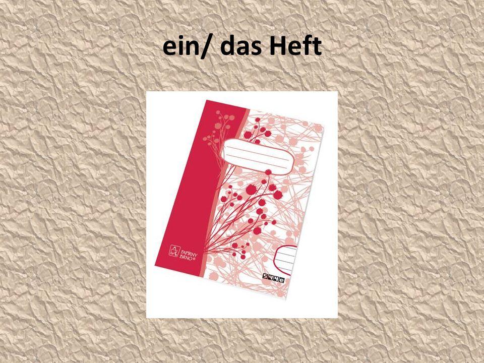 ein/ das Heft
