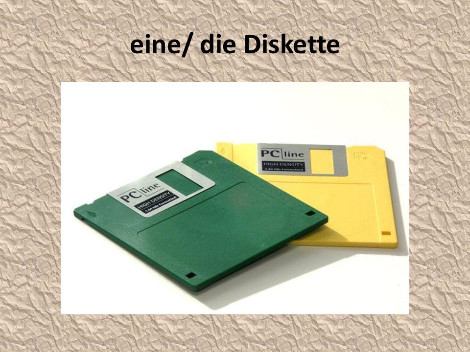 eine/ die Diskette