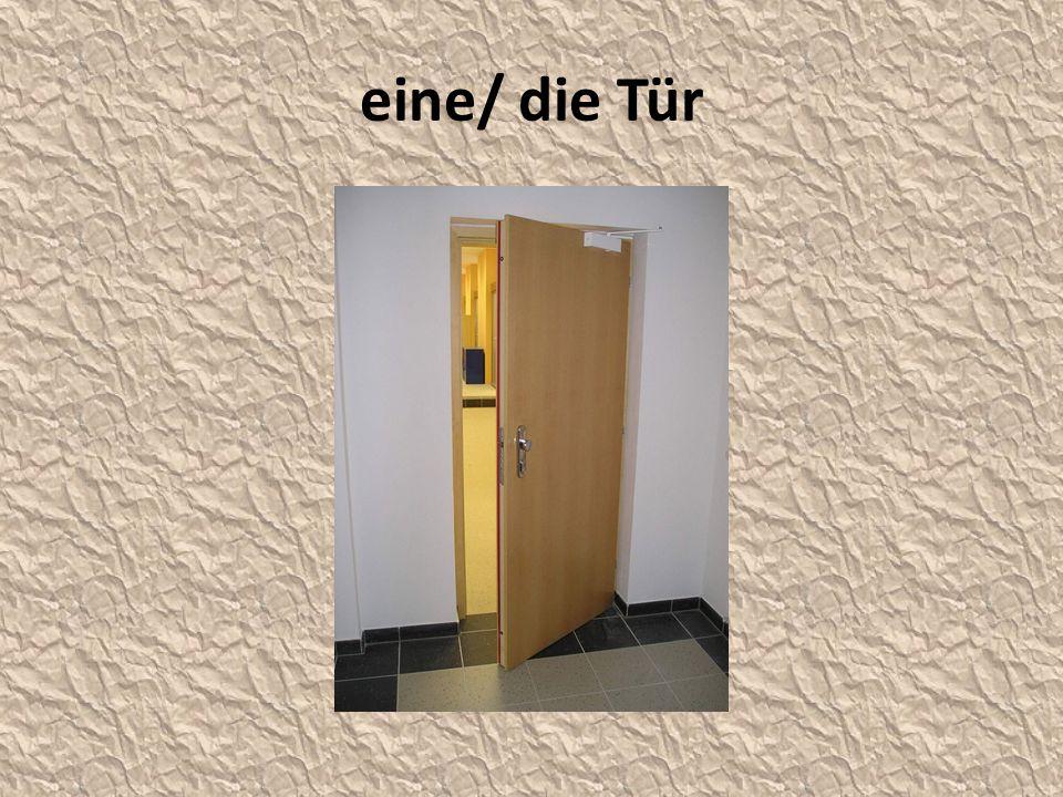 eine/ die Tür