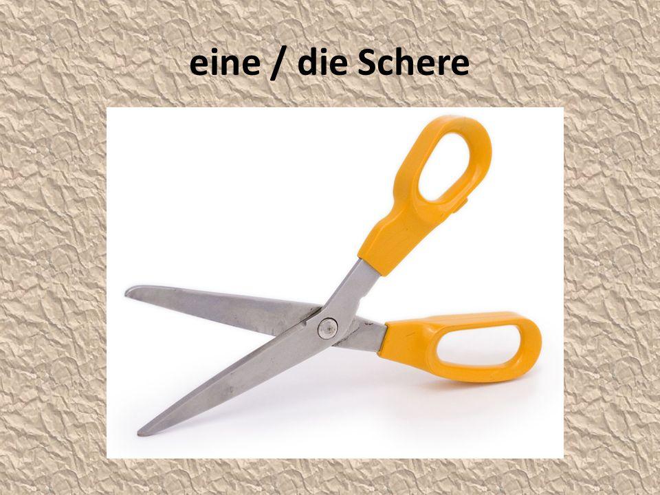 eine / die Schere