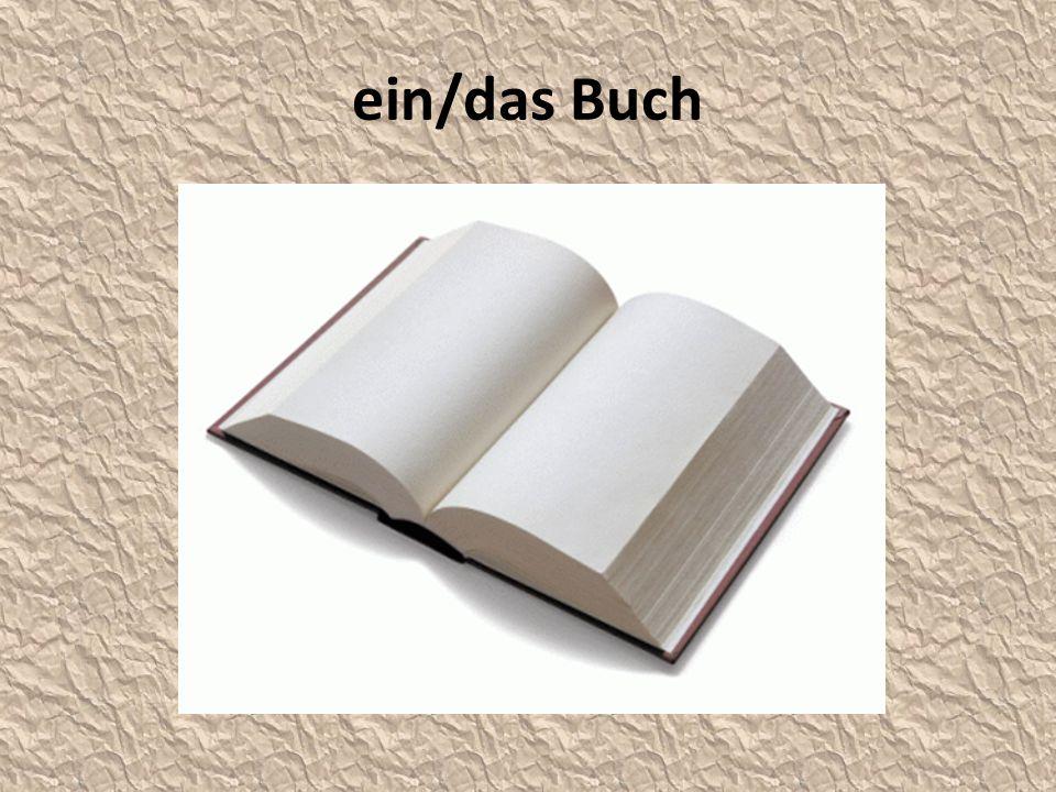 ein/das Buch