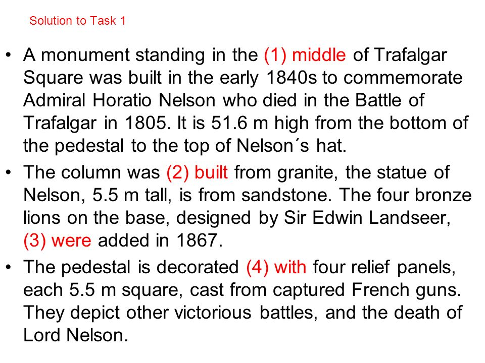 Task 2: Read the description below and – substitute the highlighted phrases.