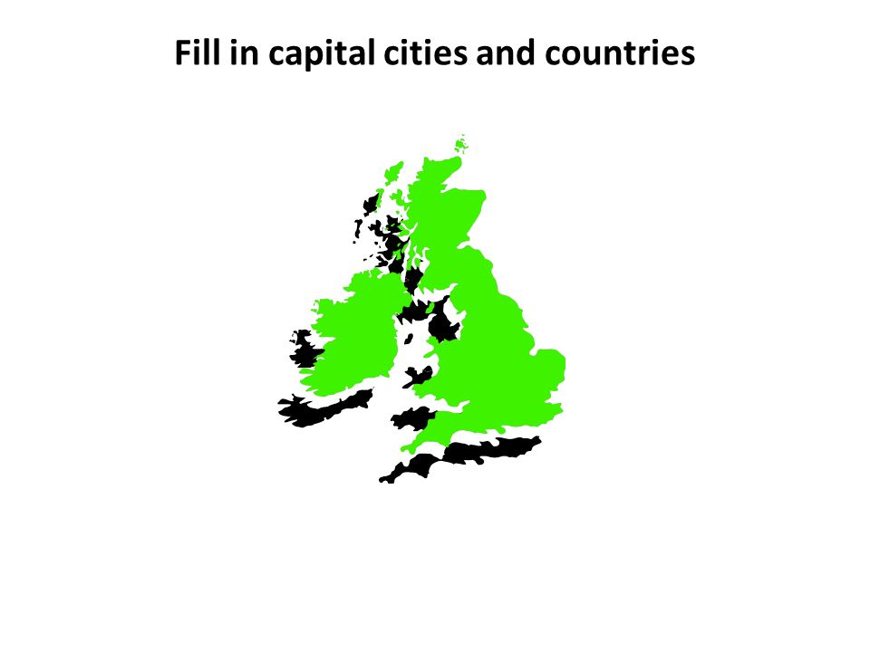 Fill in capital cities and countries