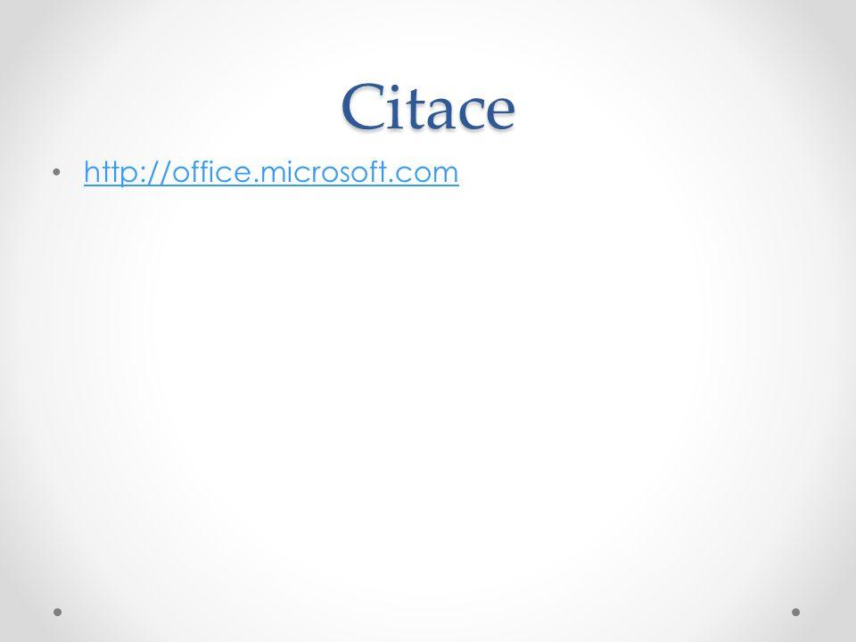 Citace http://office.microsoft.com