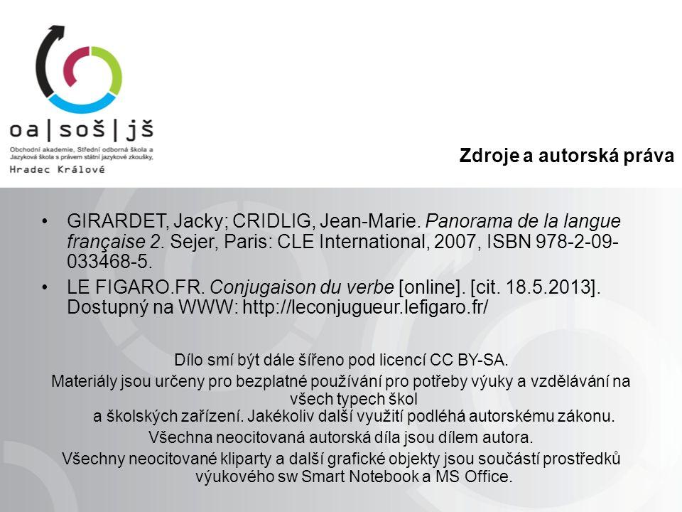 Zdroje a autorská práva GIRARDET, Jacky; CRIDLIG, Jean-Marie.