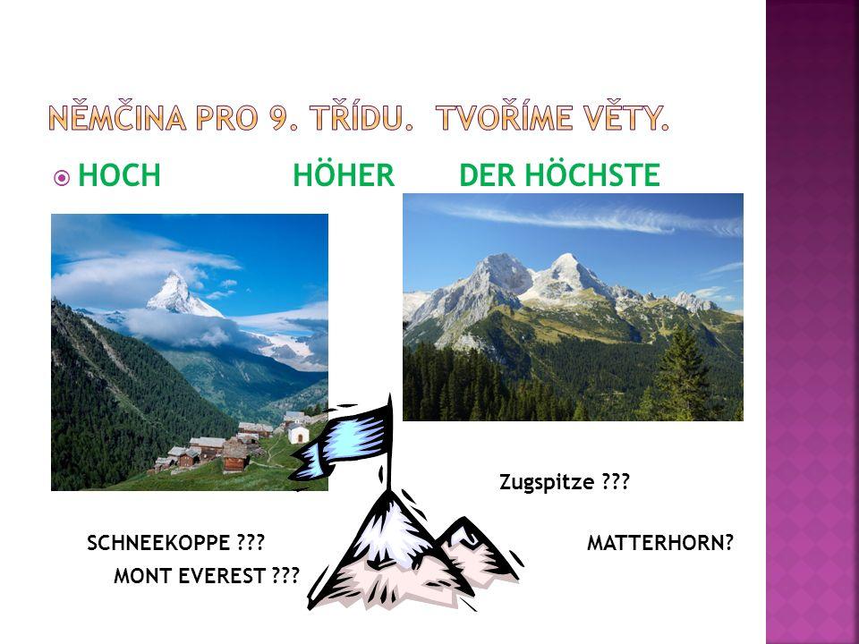  HOCH HÖHER DER HÖCHSTE Zugspitze ??? SCHNEEKOPPE ???MATTERHORN? MONT EVEREST ???