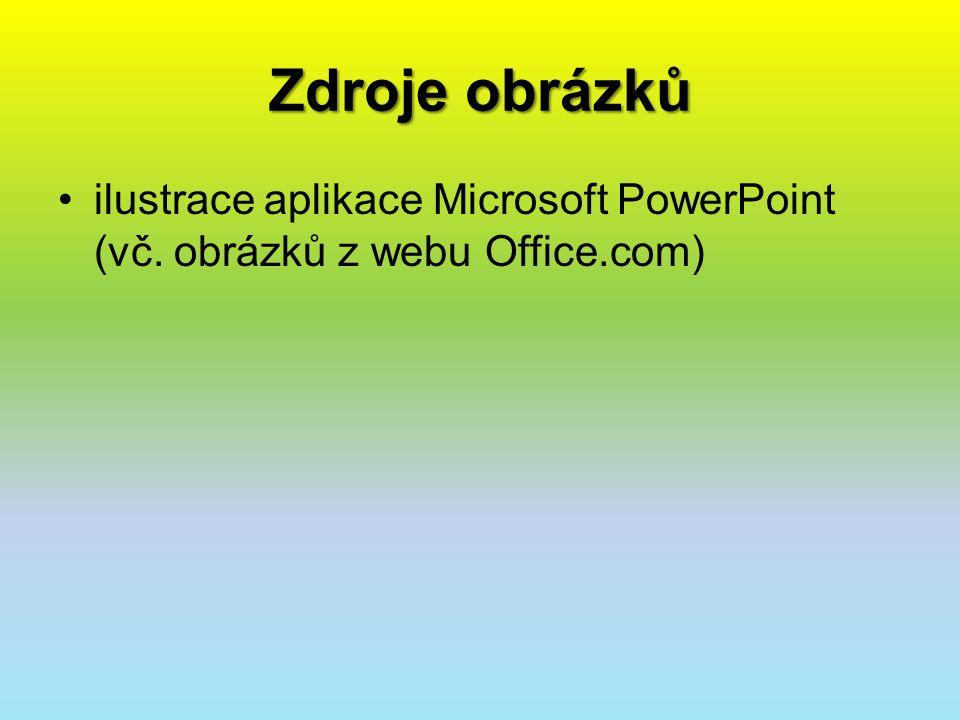 Zdroje obrázků ilustrace aplikace Microsoft PowerPoint (vč. obrázků z webu Office.com)