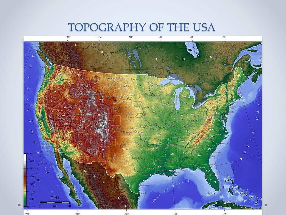 TOPOGRAPHY OF THE USA