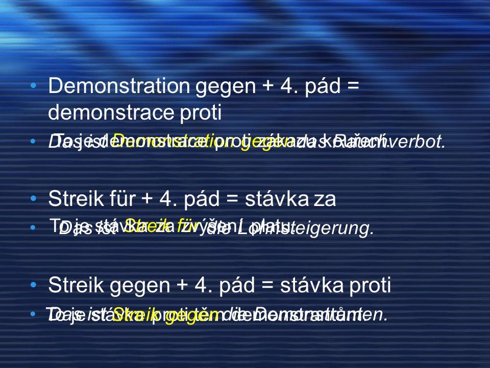 Demonstration gegen + 4.pád = demonstrace proti Das ist das Rauchverbot.