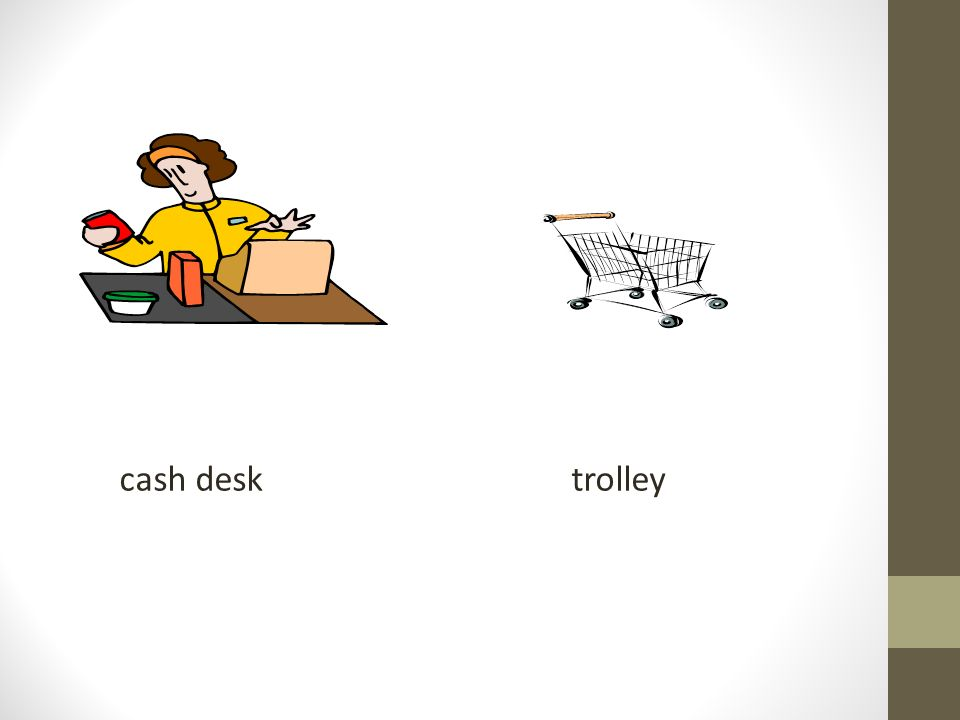 cash desk trolley