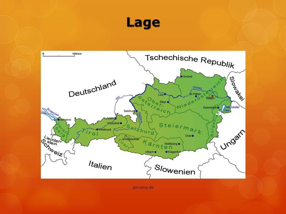  Nachbarländer: … die Bundesrepublik Deutschland (die längste Grenze) … Tschechien (im Norden) … Liechtenstein (die kürzeste Grenze) … die Schweiz (im Westen) … Ungarn, die Slowakei (im Osten) … Slowenien und Italien (im Süden)