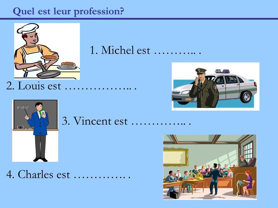 Quel est leur profession. 1. Michel est ………... 2.