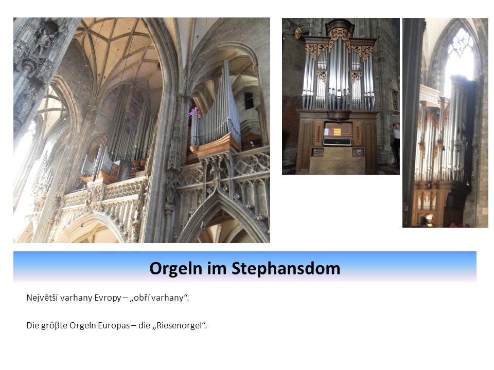 """Orgeln im Stephansdom Největší varhany Evropy – """"obří varhany ."""