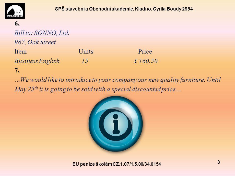 SPŠ stavební a Obchodní akademie, Kladno, Cyrila Boudy 2954 6.