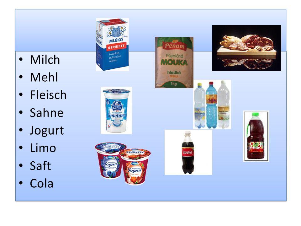 Milch Mehl Fleisch Sahne Jogurt Limo Saft Cola Milch Mehl Fleisch Sahne Jogurt Limo Saft Cola