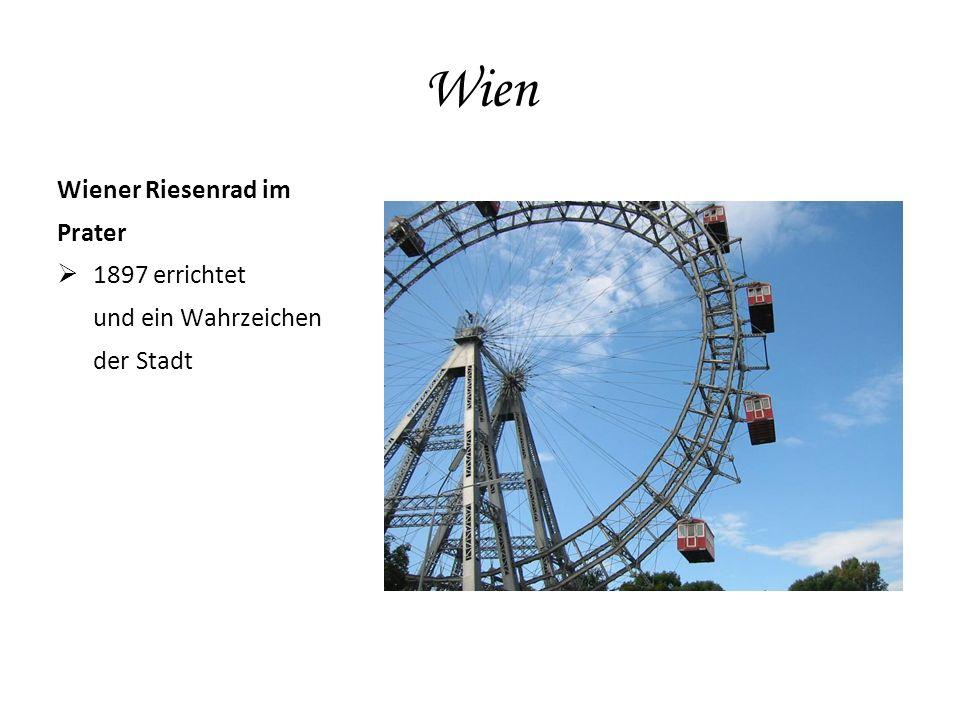 Wien Wiener Riesenrad im Prater  1897 errichtet und ein Wahrzeichen der Stadt