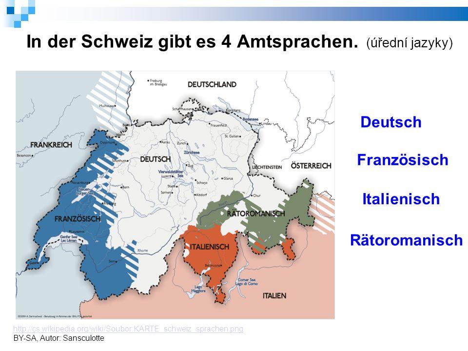 In der Schweiz gibt es 4 Amtsprachen.