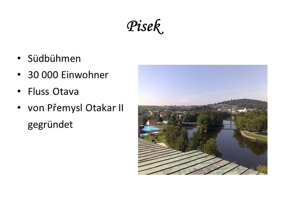 Südbühmen 30 000 Einwohner Fluss Otava von Přemysl Otakar II gegründet