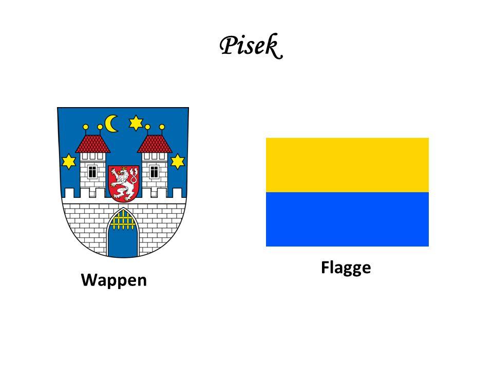 Pisek Wappen Flagge