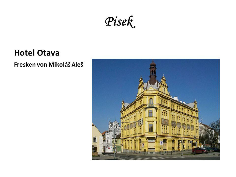 Pisek Hotel Otava Fresken von Mikoláš Aleš