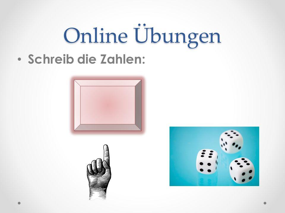 Online Übungen Schreib die Zahlen: