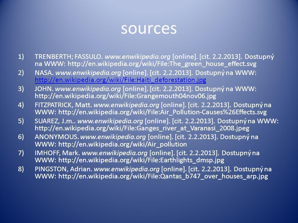 sources 1)TRENBERTH; FASSULO.www.enwikipedia.org [online].