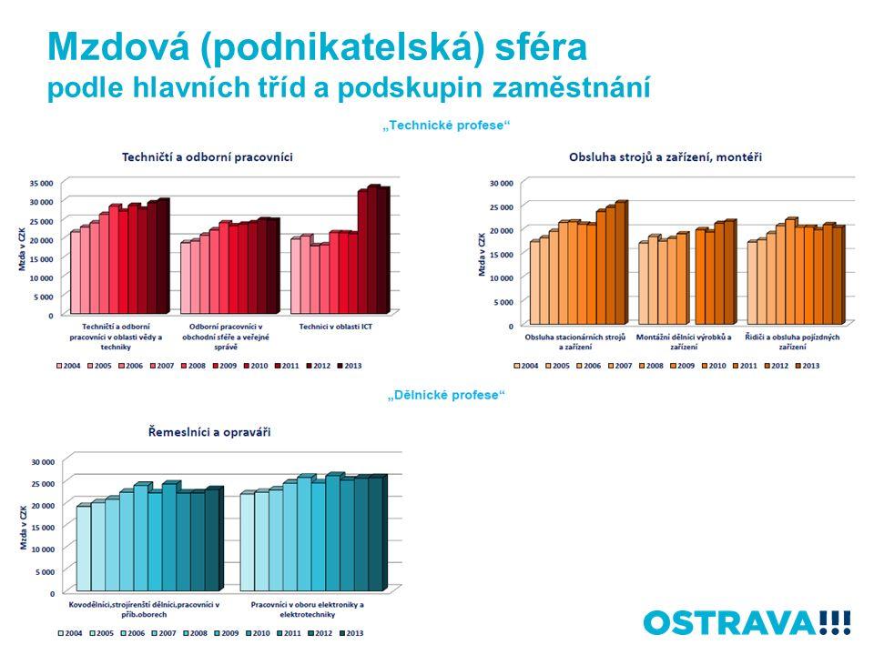 Mzdová (podnikatelská) sféra podle hlavních tříd a podskupin zaměstnání