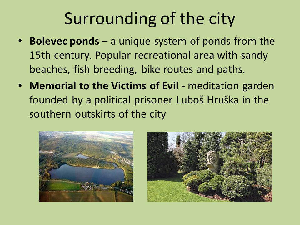 Surrounding of the city Bolevec ponds – a unique system of ponds from the 15th century.