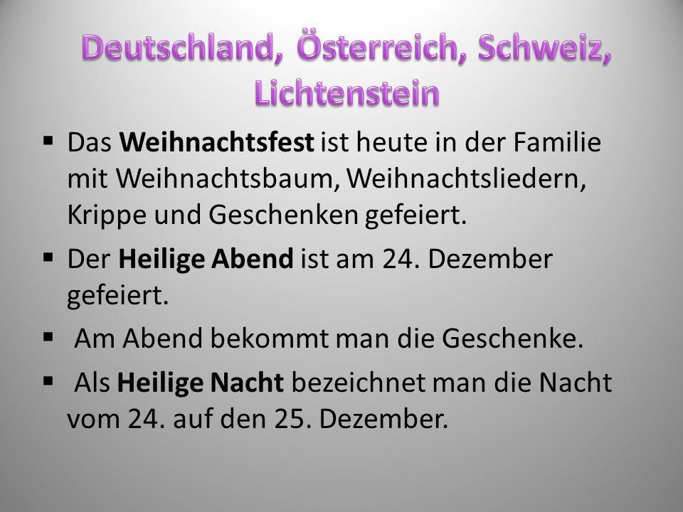 Weihnachten in deutschsprächigen Ländern