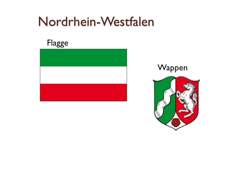Nordrhein-Westfalen Flagge Wappen