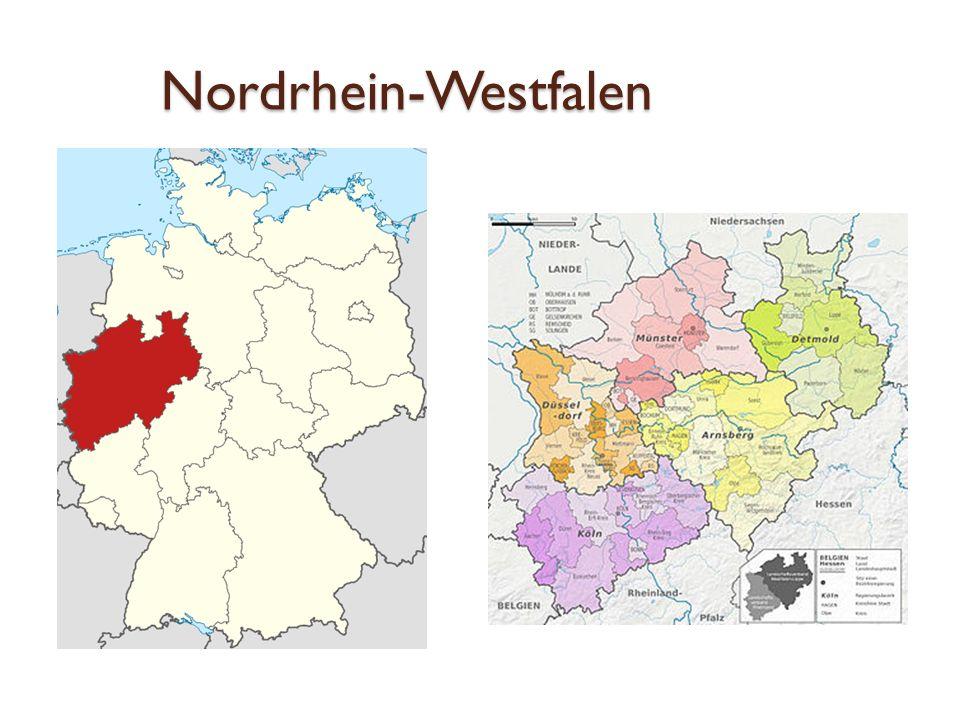 Nordrhein-Westfalen die Landeshauptstadt ist Düsseldorf größte Stadt nach Einwohnern ist Köln das wirtschaftsstärkste Land Deutschlands und eines der wichtigsten Wirtschaftszentren der Welt der Flughafen Düsseldorf ist der drittgrößte deutsche Flughafen und das wichtigste internationale Drehkreuz des Landes