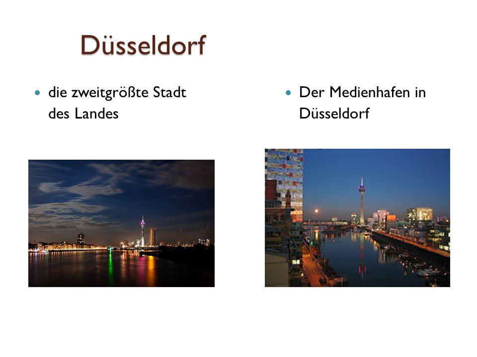 Düsseldorf die zweitgrößte Stadt des Landes Der Medienhafen in Düsseldorf