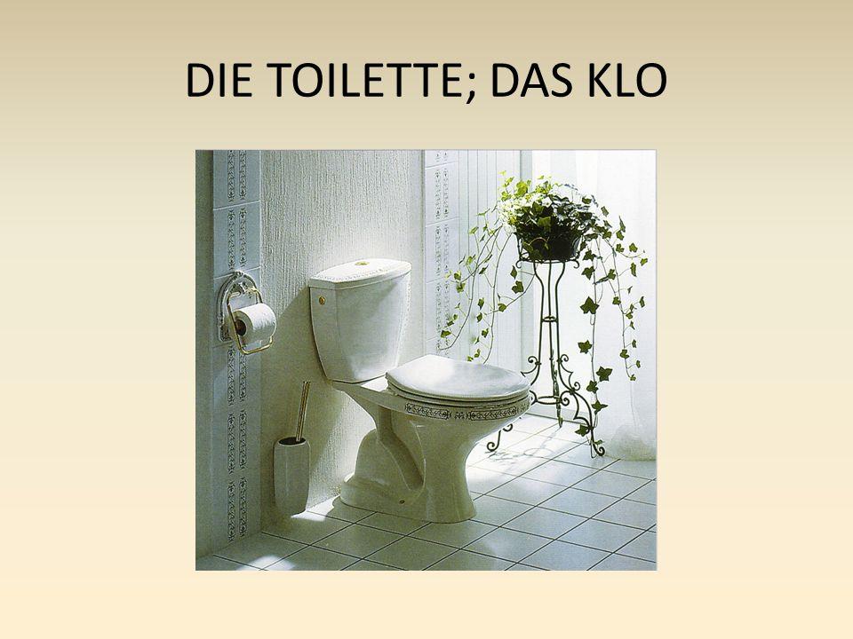 DIE TOILETTE; DAS KLO