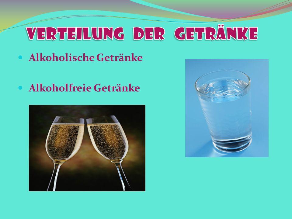 Alkoholische Getränke Alkoholfreie Getränke