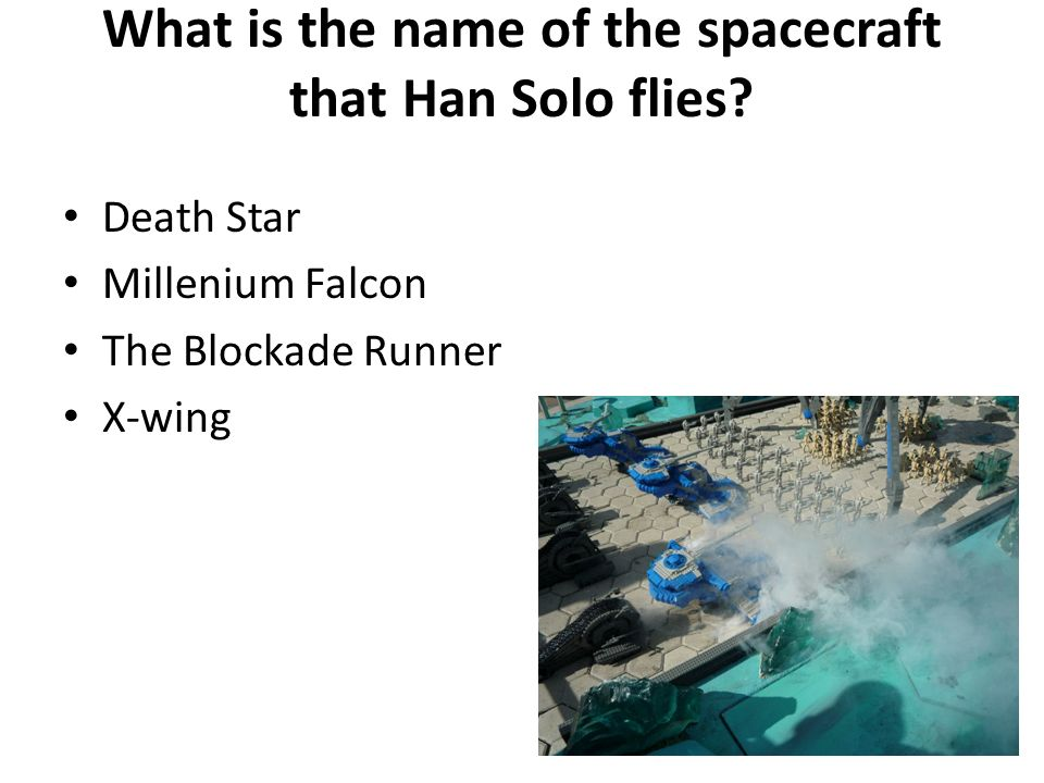 What is the name of the spacecraft that Han Solo flies.