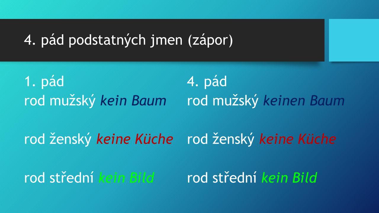 4. pád podstatných jmen (zápor) 1.