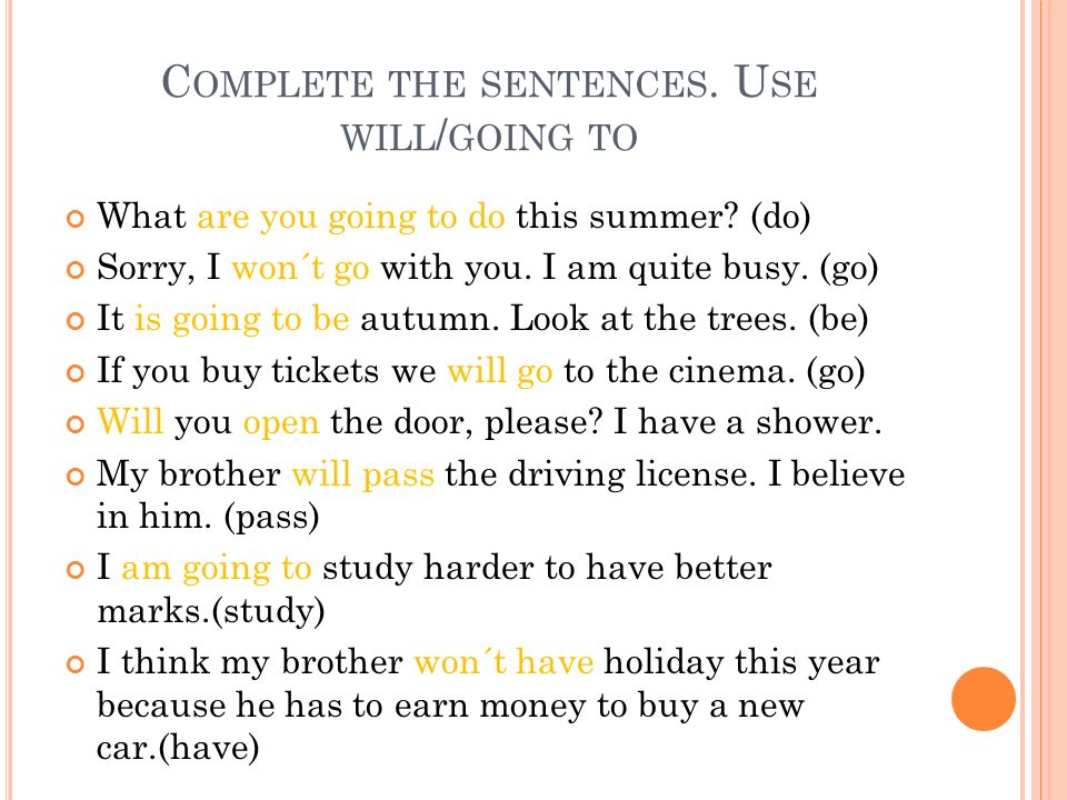 BUILD THE SENTENCES Marry/ will/ me/ you.