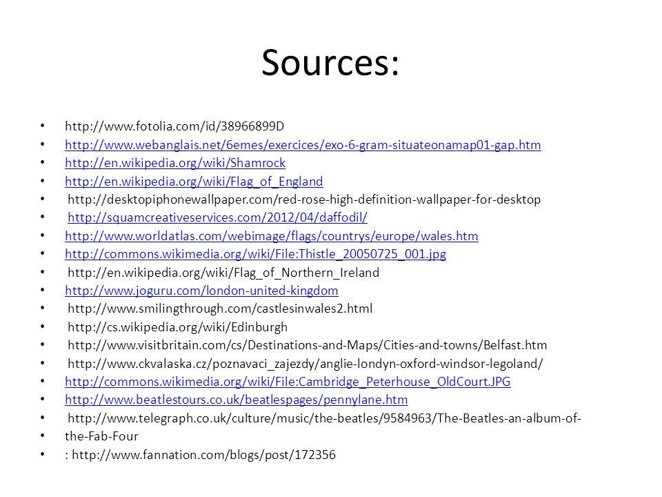 Sources: http://www.fotolia.com/id/38966899D http://www.webanglais.net/6emes/exercices/exo-6-gram-situateonamap01-gap.htm http://en.wikipedia.org/wiki
