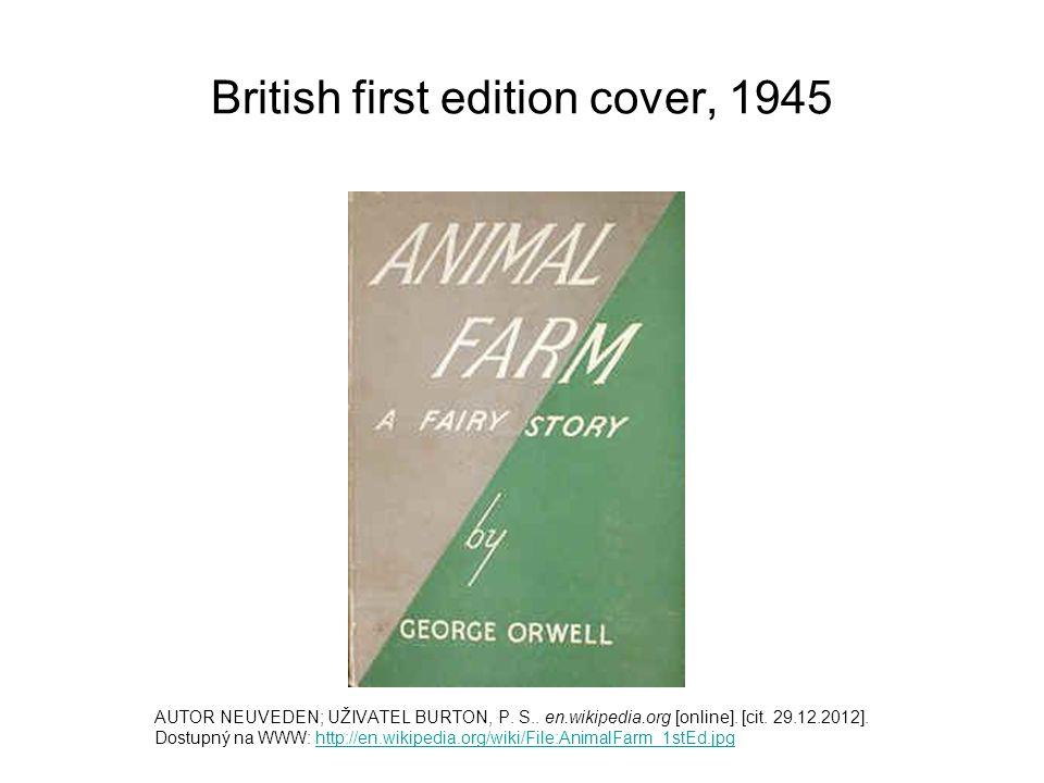 British first edition cover, 1945 AUTOR NEUVEDEN; UŽIVATEL BURTON, P.