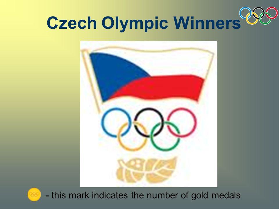 is last Czech Olympic winner she won her gold medal at the Olympics in Beijing in 2008 Barbora Špotáková