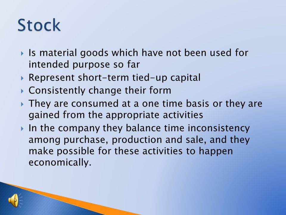 Tutorial:Business Academy Topic: Stock in trade Prepared by:Ing.
